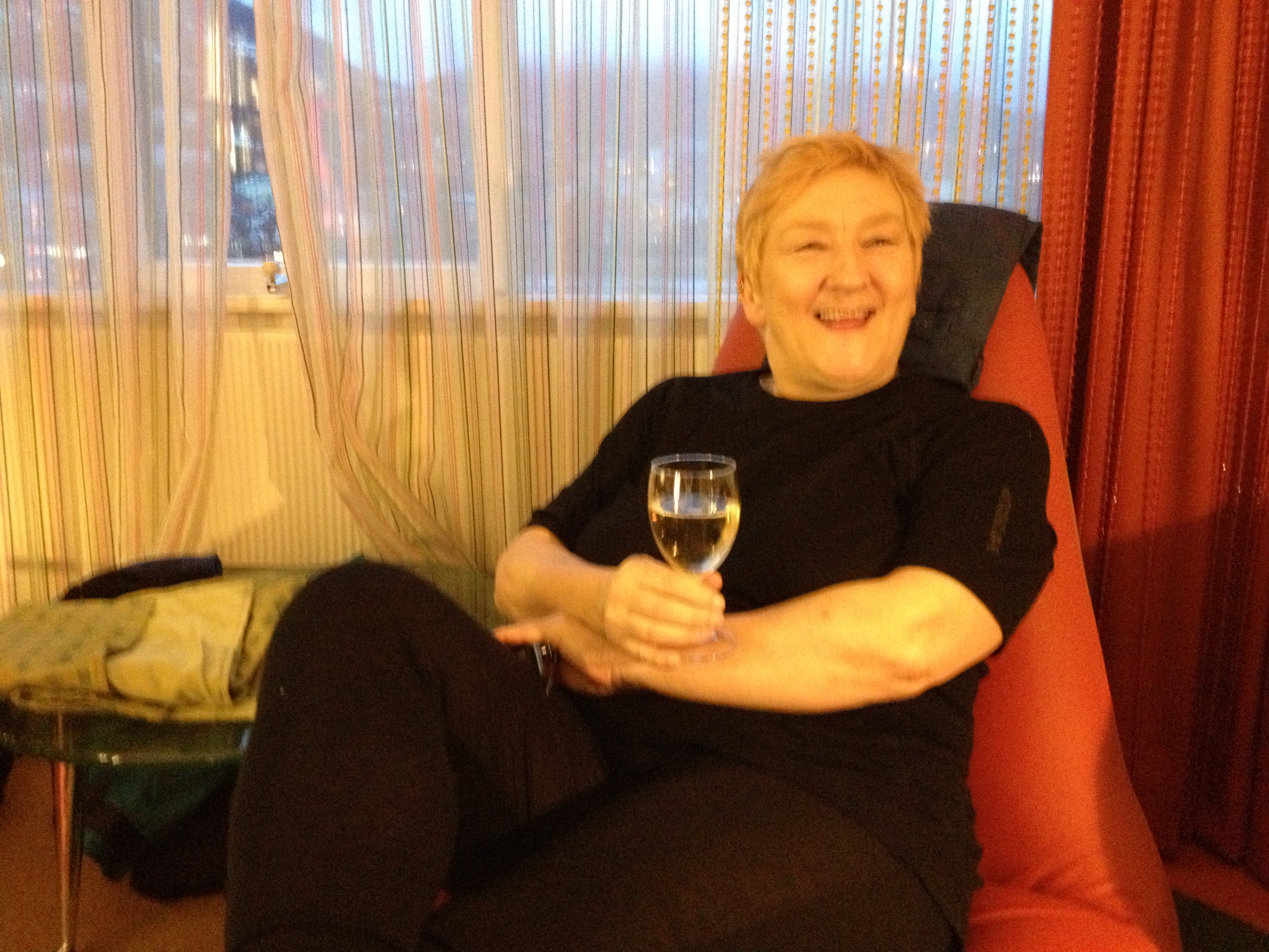 A relaxing glass of champagne