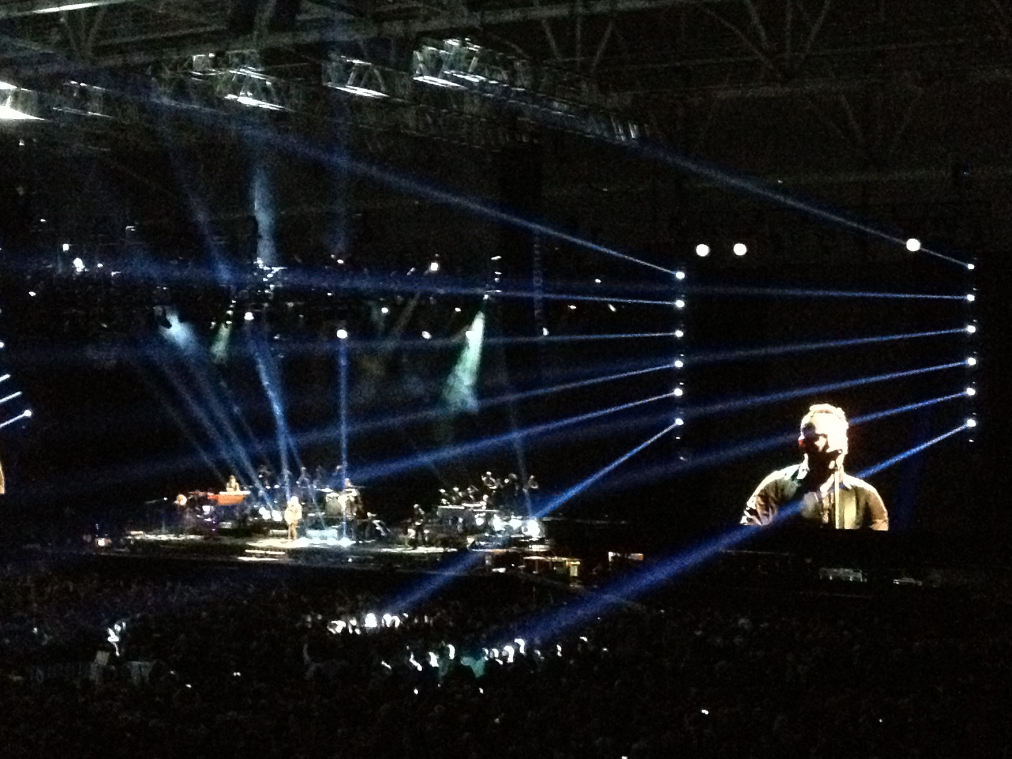 Bruce, 23,000 people in the arena and us