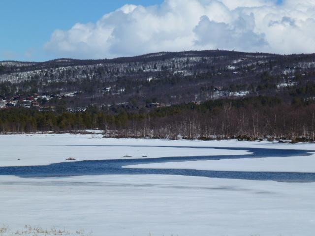 Frozen lake at Geilo
