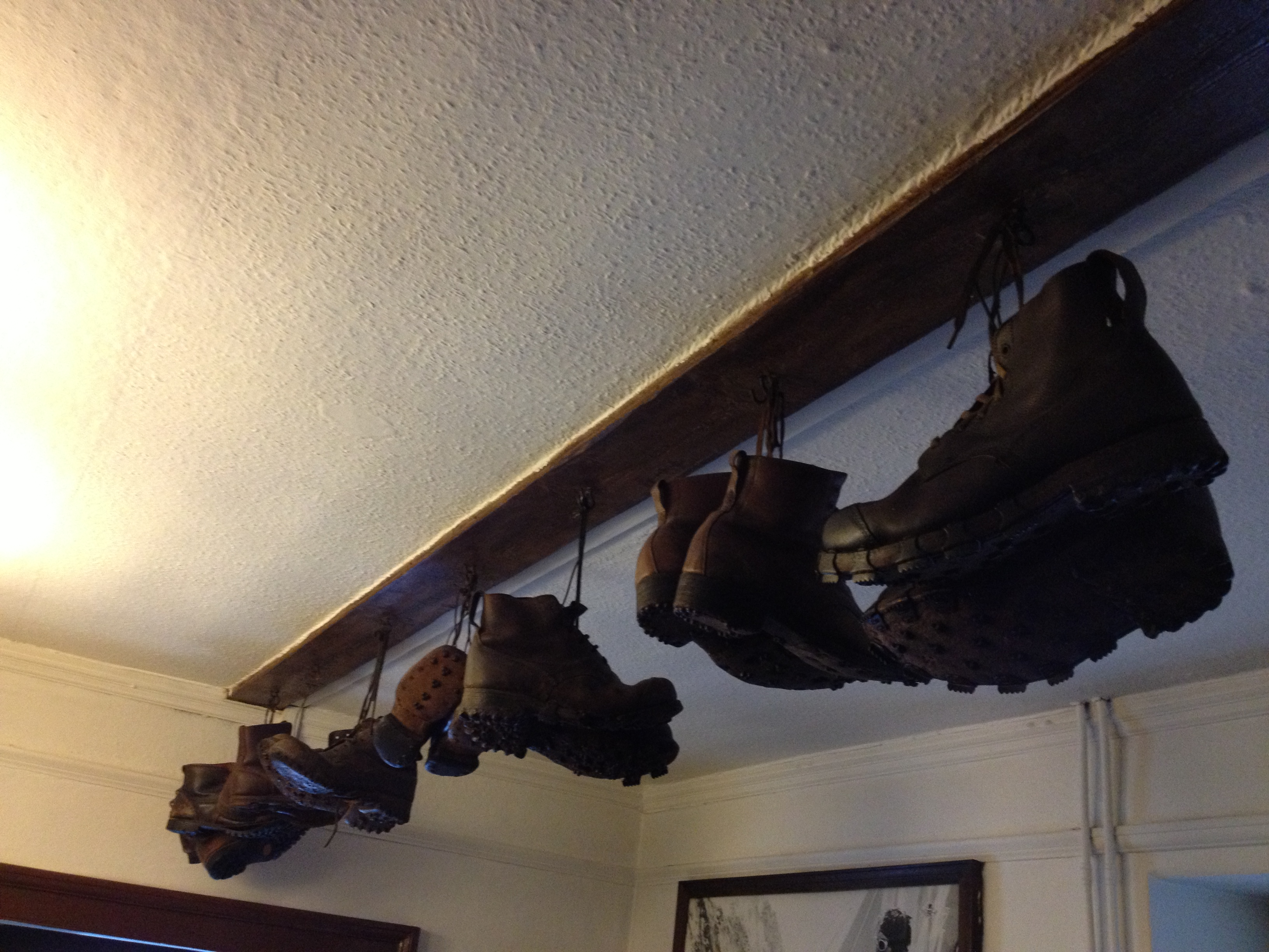 Boots worn by the team that climbed Everest in 1953 but not the actual boots used on Everest