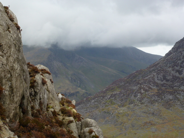 Getting high on Tryfan's north face