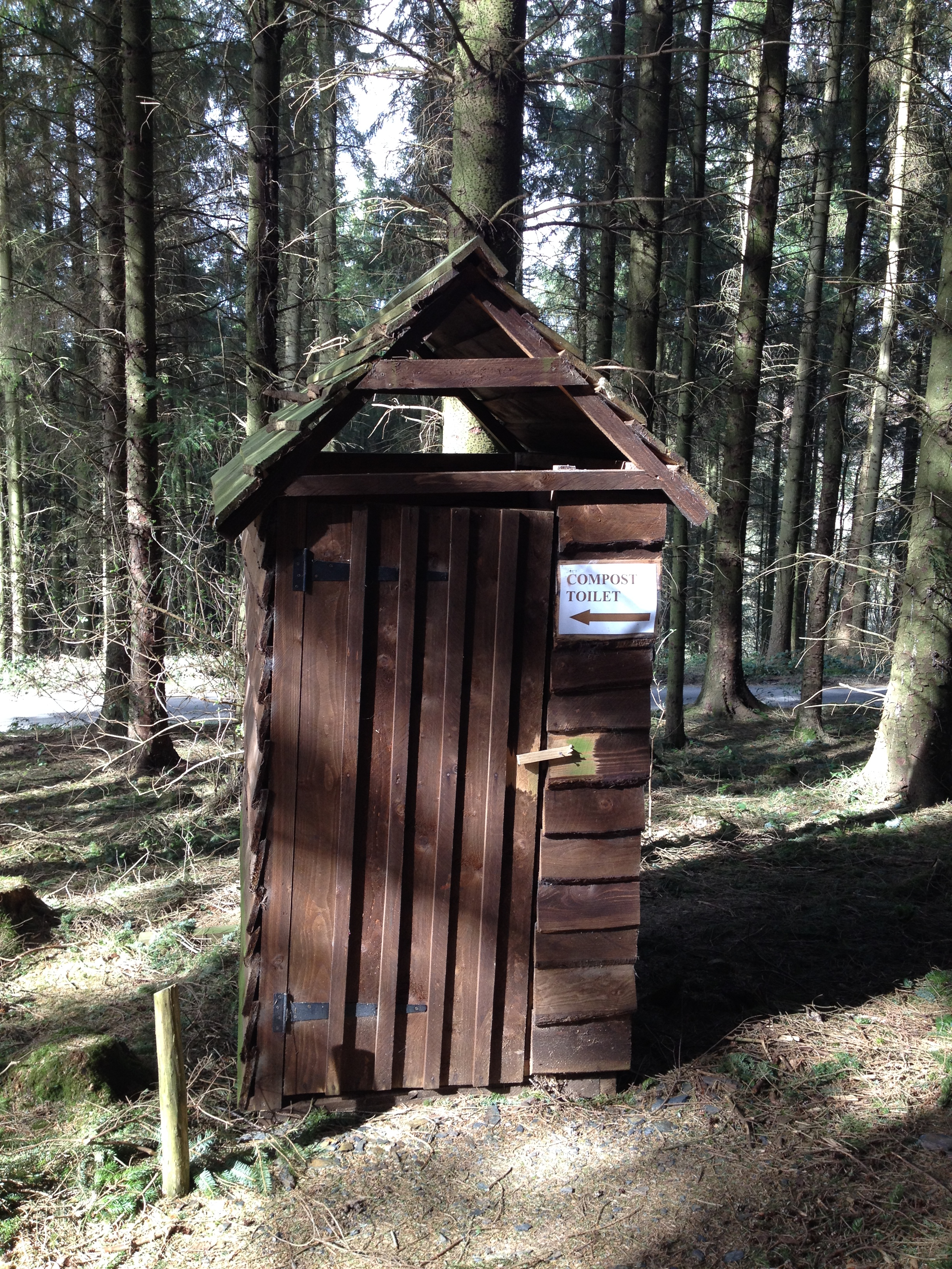 """Before I saw this hut from this angle I said """"if this was in Finland it would be a compost loo!"""""""