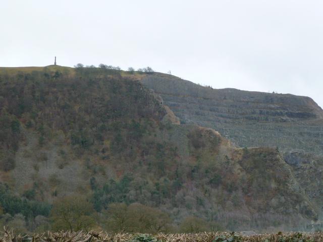 Vast quarry at Criggion