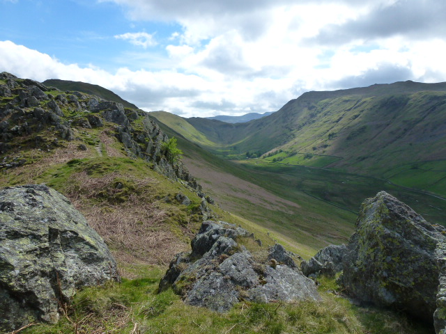 Looking back at Place Fell horseshoe