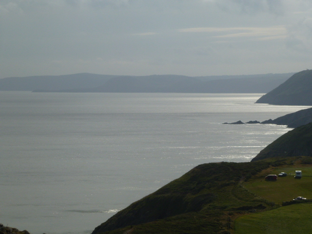 Looking north from Mwnt