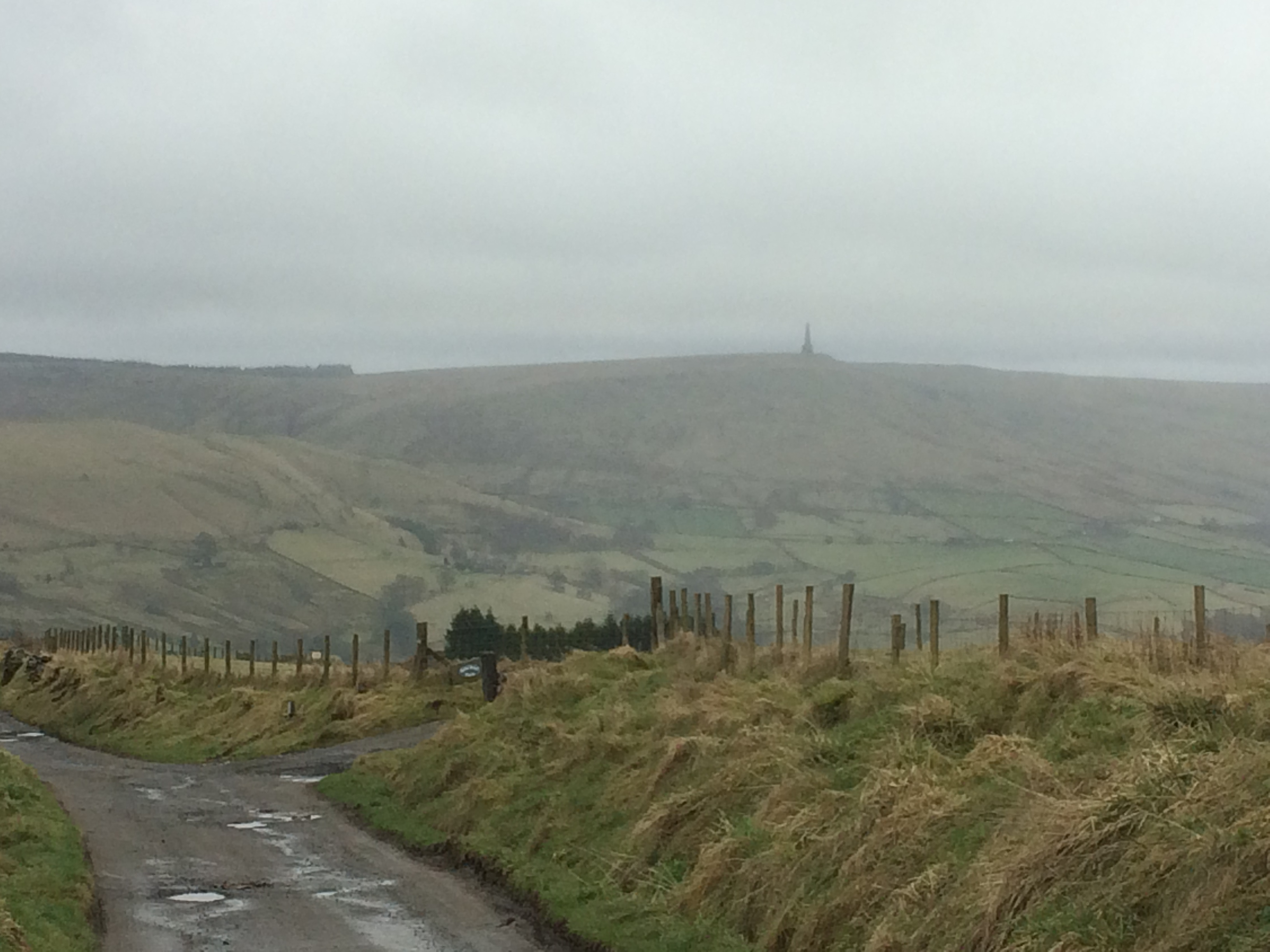 Stoodley Pike in the gloom